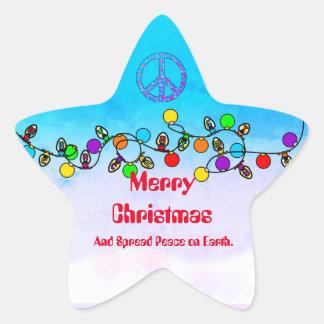 Sticker Étoile Écartez la paix sur l'autocollant de Noël de la