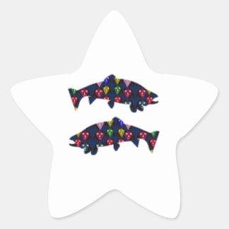 Sticker Étoile Faites face à l'AMUSEMENT PEINT de NavinJOSHI