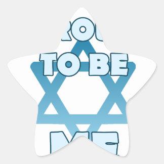 Sticker Étoile Fier d'être juif
