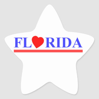 Sticker Étoile Florida coeur rouge