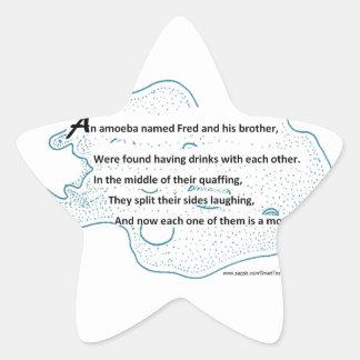 Sticker Étoile Fred l'amibe - un poème de la Science de