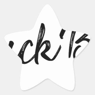 Sticker Étoile Garçon de canard