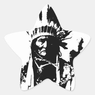 Sticker Étoile Geronimo noir et blanc