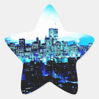 Sticker Étoile Gratte-ciel de New York City à l'autocollant