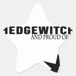 Sticker Étoile Hedgewitch et fier de lui