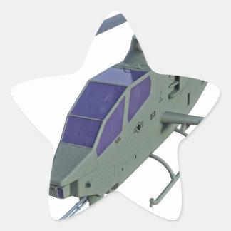 Sticker Étoile Hélicoptère d'Apache dans la vue de face