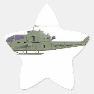 Sticker Étoile Hélicoptère d'Apache dans le profil de vue de côté