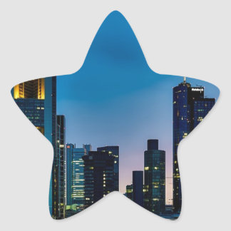 Sticker Étoile Horizon de Francfort Allemagne