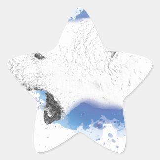 Sticker Étoile Iorek, ours blindé de ses matériaux foncés