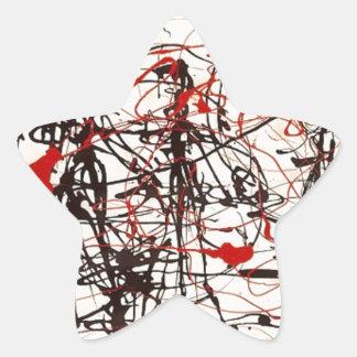 Sticker Étoile Jackson Pollock sans titre