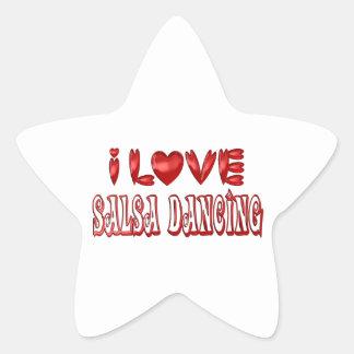 Sticker Étoile J'aime la danse de Salsa