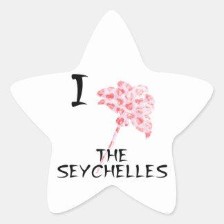 Sticker Étoile J'aime les Seychelles