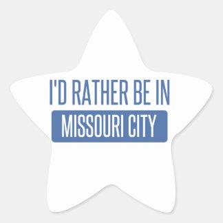 Sticker Étoile Je serais plutôt dans la ville du Missouri