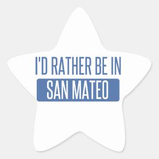 Sticker Étoile Je serais plutôt dans San Mateo