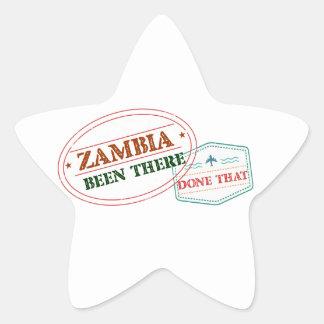 Sticker Étoile La Zambie là fait cela