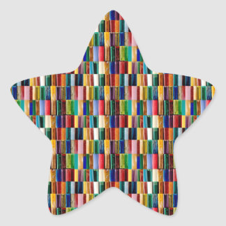 Sticker Étoile L'allumeur de gaz écosse le collage créatif d'art