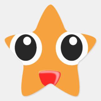 Sticker Étoile Le chat orange au nez rouge