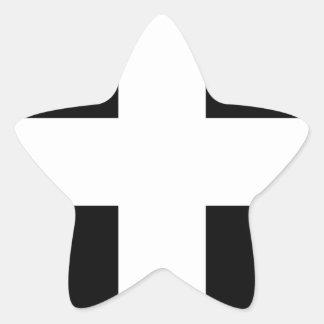 Sticker Étoile Le drapeau de Piran cornouaillais de saint -