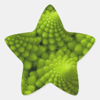 Sticker Étoile Légume de fractale de brocoli de Romanesco