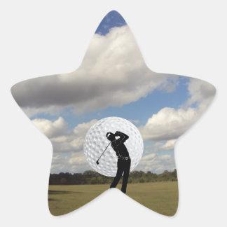 Sticker Étoile Monde de golf