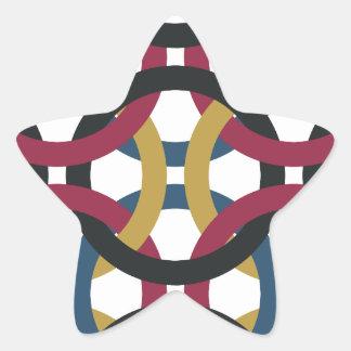 Sticker Étoile motif d'anneau