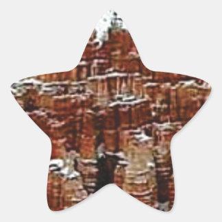 Sticker Étoile neige et glace dans le formationsf de roche
