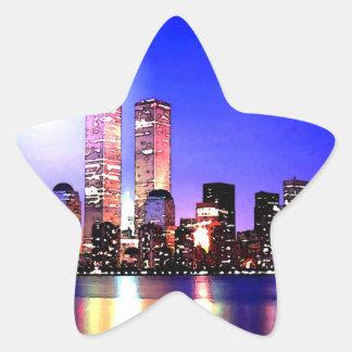 Sticker Étoile New York City à l'autocollant d'étoile de nuit