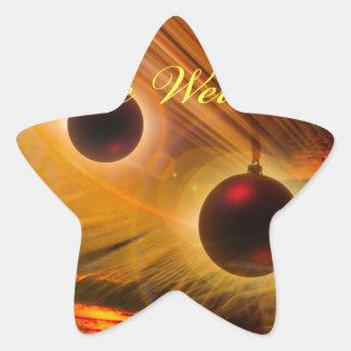 Sticker Étoile Noël heureux un bon glisser dans à la nouvelle
