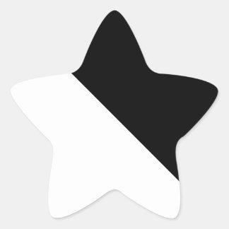 Sticker Étoile Noir et blanc