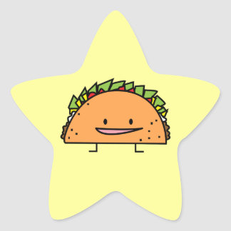Sticker Étoile Nourriture heureuse de Mexicain de Salsa de viande