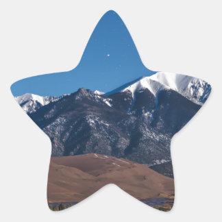 Sticker Étoile Nuit étoilée de dunes de sable du Colorado de Lit
