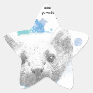 Sticker Étoile Pantalaimon, le démon de Lyra de ses matériaux