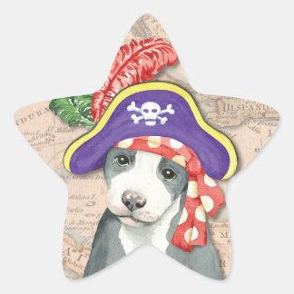 Sticker Étoile Pirate de Terrier de pitbull