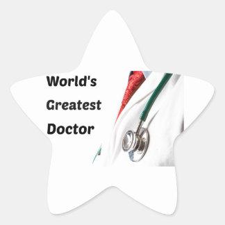 Sticker Étoile Plus grand docteur Design du monde