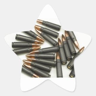 Sticker Étoile point creux des munitions 7.62x39mm de munitions