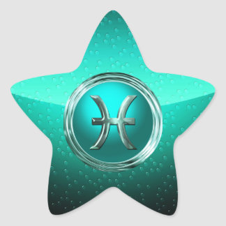 Sticker Étoile Poissons | le Glyph astrologique de poissons