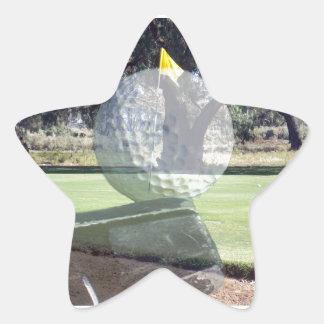 Sticker Étoile Putter de golf alignant la boule de golf,