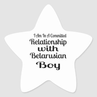 Sticker Étoile Rapport avec le garçon biélorusse