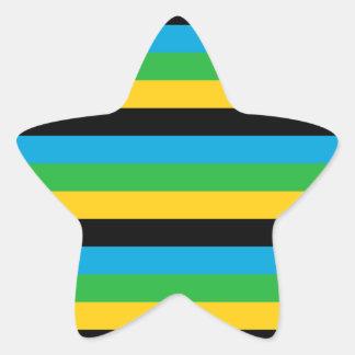 Sticker Étoile Rayures de drapeau de la Tanzanie