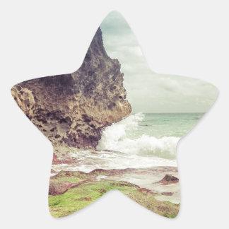 Sticker Étoile Roches sur le beach03
