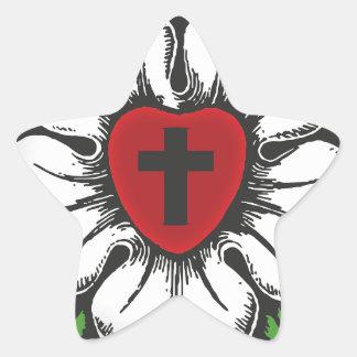 Sticker Étoile rose de luther