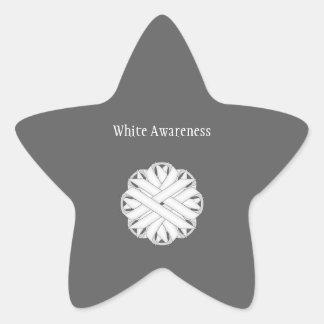 Sticker Étoile Ruban de fleur blanche