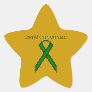 Sticker Étoile Ruban de norme de vert vert