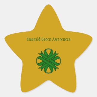 Sticker Étoile Ruban de trèfle de vert vert