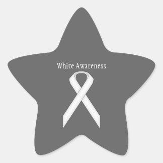 Sticker Étoile Ruban standard blanc