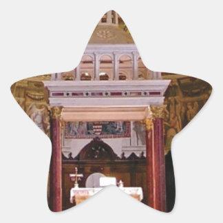 Sticker Étoile saint changez dans l'église