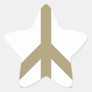 Sticker Étoile Signe de paix