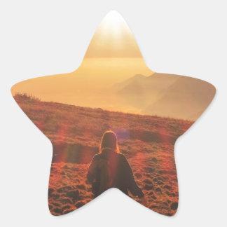 Sticker Étoile Soleil - aube ou crépuscule