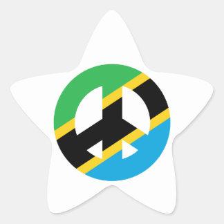 Sticker Étoile Symbole de paix tanzanien