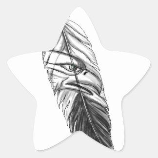 Sticker Étoile Tatouage de plume d'Eagle de mer